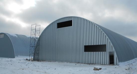 Строительство картофелехранилищ на 3500 тонн